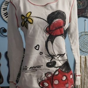 Disney Minnie Mouse Long Sleeve sz L, Thrifted